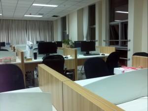 技术部办公室一角